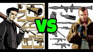 TODAS LAS ARMAS DE GTA III vs GTA IV