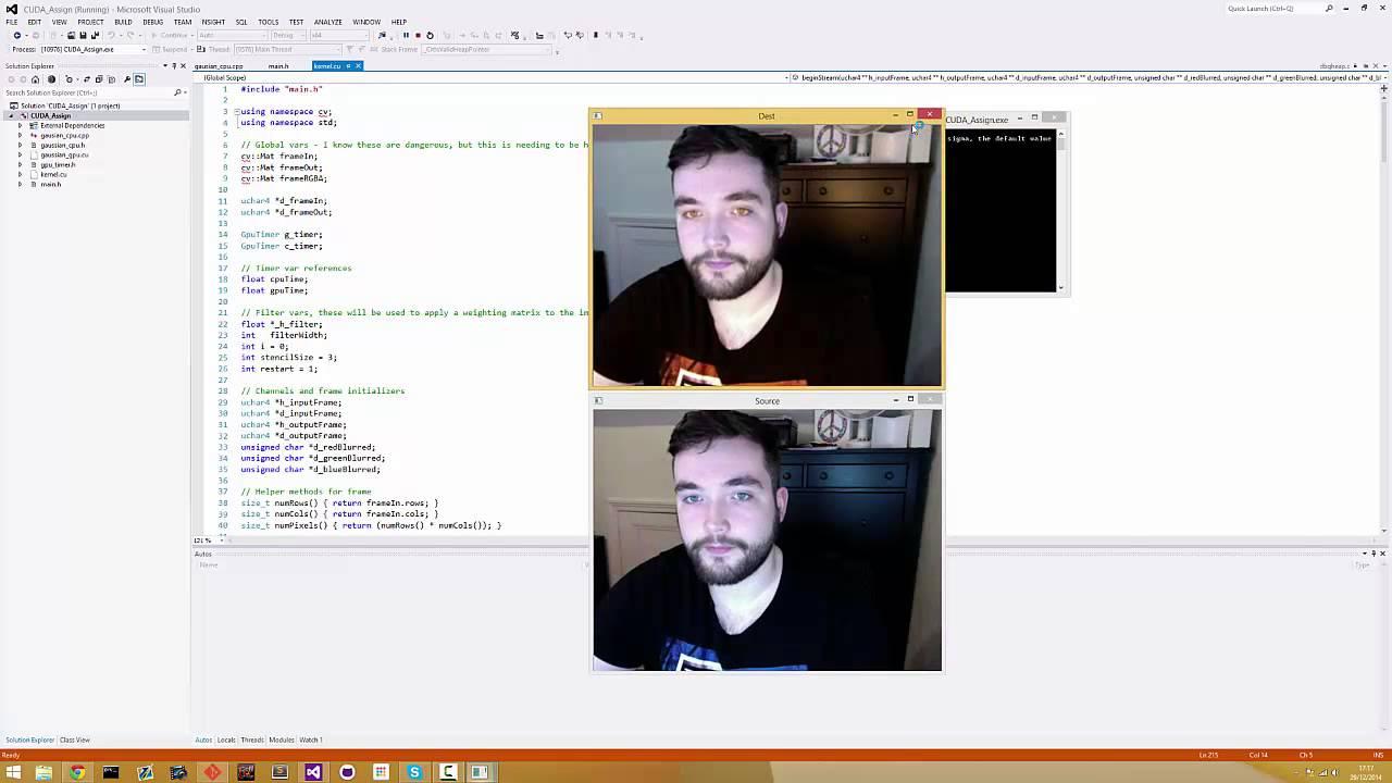 OpenCV and CUDA Gaussian Blur