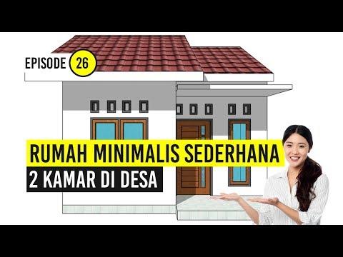 Rumah Minimalis Sederhana 2 Kamar Di Desa Youtube