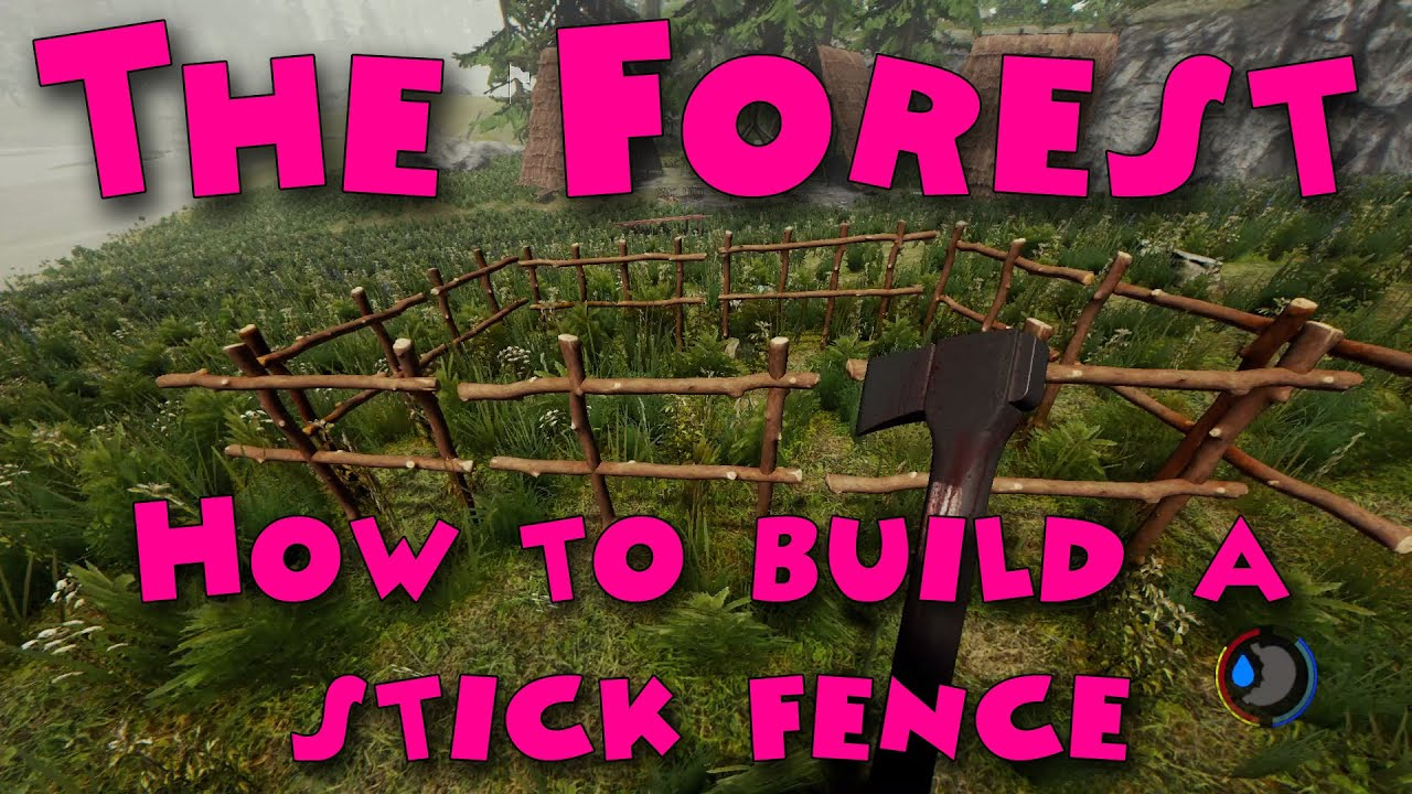 the forest how to build a stick fence youtube. Black Bedroom Furniture Sets. Home Design Ideas