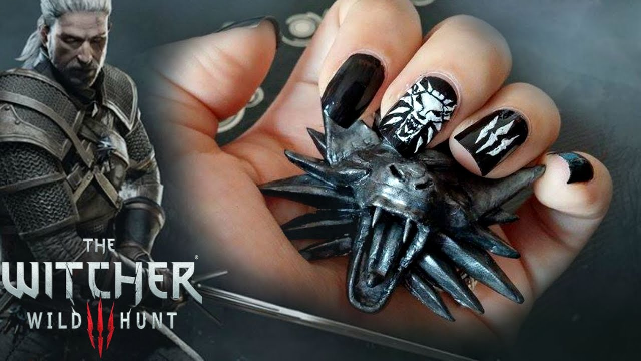 The Witcher 3: Wild Hunt // Nail Art Tutorial - YouTube
