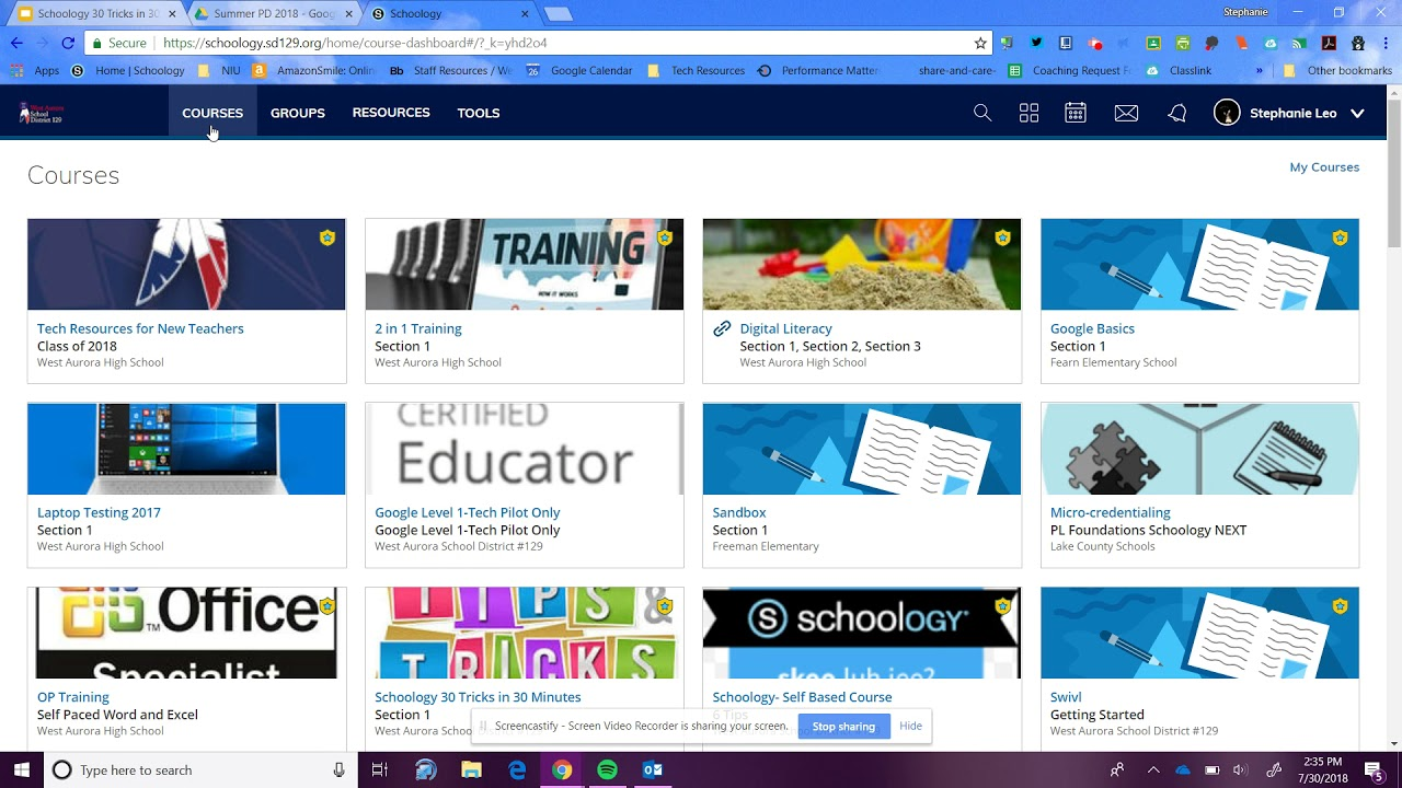 Schoology Course Dashboard View Youtube