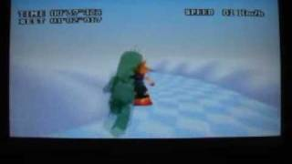 """FFVII Snowboarding Course A Time 01'01""""959"""