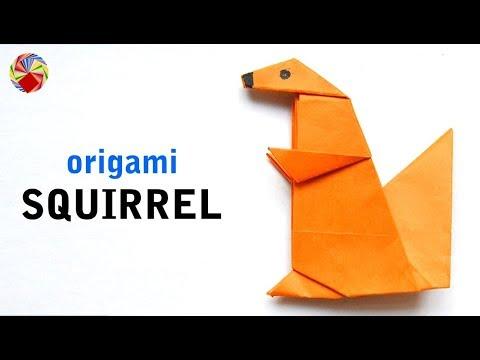 ORIGAMI SQUIRREL - DIY Paper Squireel - Easy Paper Animal Crafts - Origami Animals