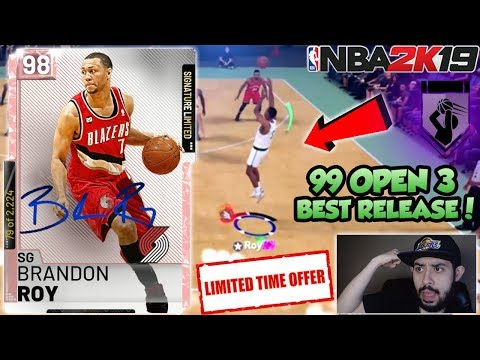 NBA 2K19 LIMITED PINK DIAMOND BRANDON ROY GAMEPLAY IN MYTEAM! 99 OPEN 3 AND BEST RELEASE IN 2K thumbnail