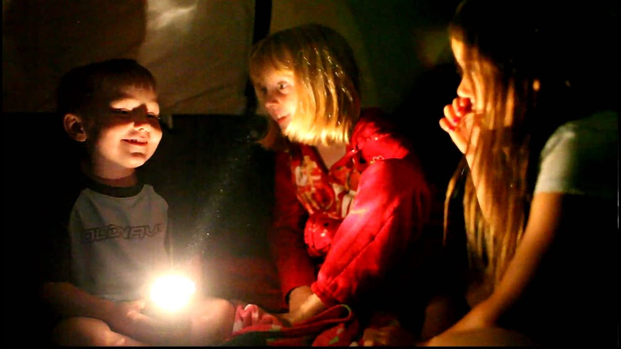 jacob telling a ghost story in the tent & jacob telling a ghost story in the tent - YouTube