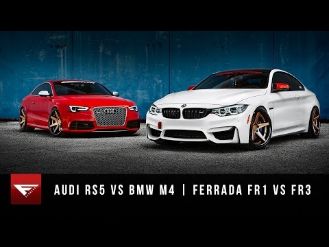 2015 BMW M4 vs 2015 Audi RS5 | Ferrada Wheels FR1 + FR3 | Matte Bronze