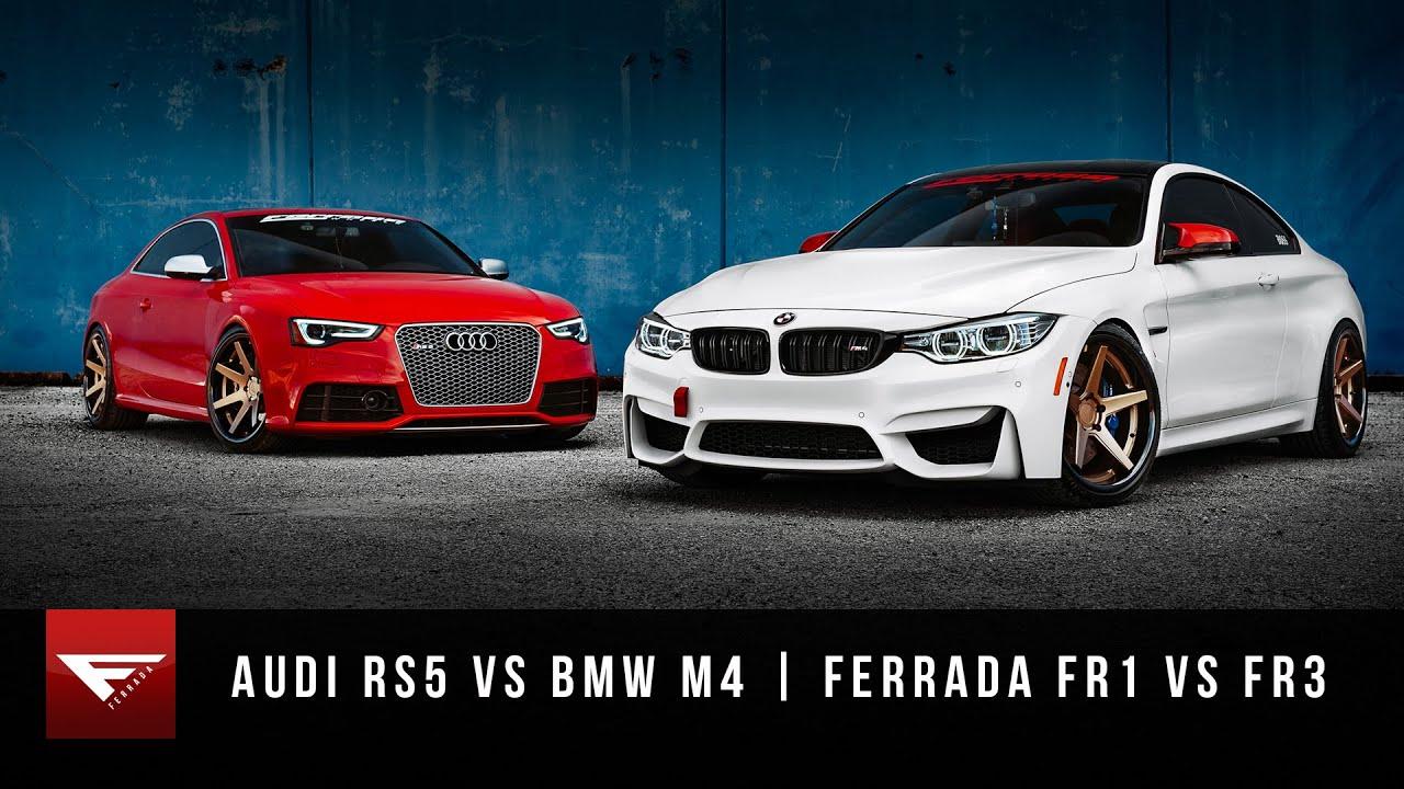 Matte Black M4 Bmw >> 2015 BMW M4 vs 2015 Audi RS5   Ferrada Wheels FR1 + FR3   Matte Bronze - YouTube