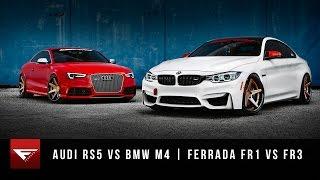 2015 bmw m4 vs 2015 audi rs5   ferrada wheels fr1 fr3   matte bronze