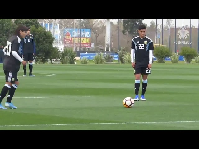 Luka Romero en la selección Argentina