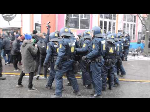 23.01.2016 Masser politi ved demonstration, København