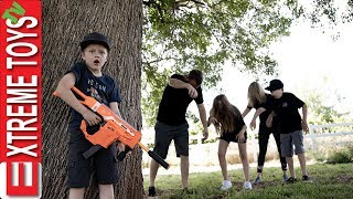 The Infected Return! Spooky Summer Family Vacation Nerf Battle!