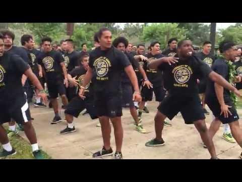 Hawaii Warriors perform haka at Schofield Barracks