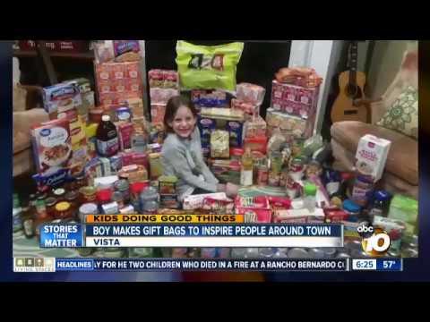Mason on  San Diego Channel 10 News - Kids doing good things