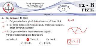 12B MEB Okul Kursu Fizik K.K.Testi 13 (Dalgalar-2)