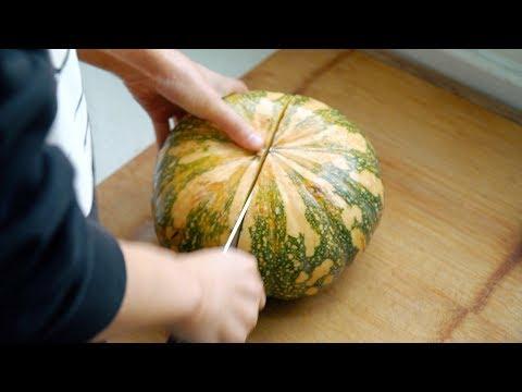 【小胖在西北】买4斤大的南瓜,媳妇在家做了啥,老公说要当着镜头吃完