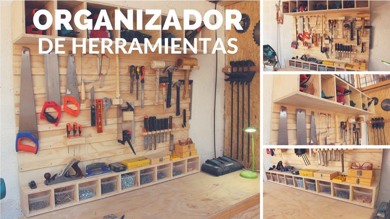 Organizador de herramientas parte 2 youtube for Casas de madera para guardar herramientas