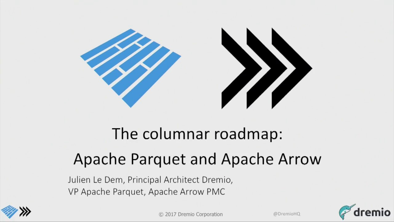 The columnar roadmap Apache Parquet and Apache Arrow