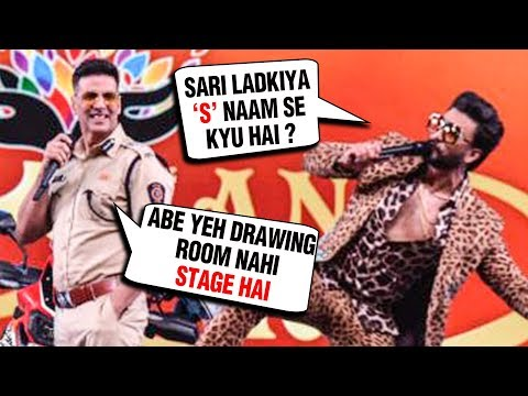 Ranveer Singh FUNNY Entry With Akshay, Ajay Devgn And Rohit Shetty At Umang 2019 thumbnail