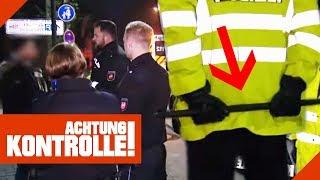 "Mann schreit Polizisten an: ""Was fässt du mich an, Mann!"" 2/2 | Achtung Kontrolle | Kabel Eins"