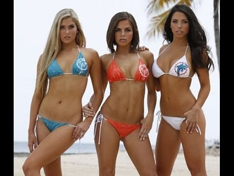 3f16ea4f4 Swimsuit Fashion Show- Miami Dolphins Cheerleaders - YouTube