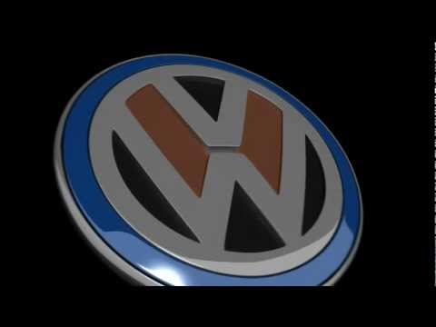VW Volkswagen 3D Logo demo animation