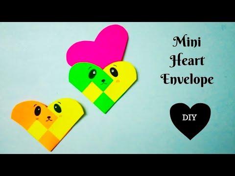 How to make a Heart Envelope   Mini Envelope   DIY