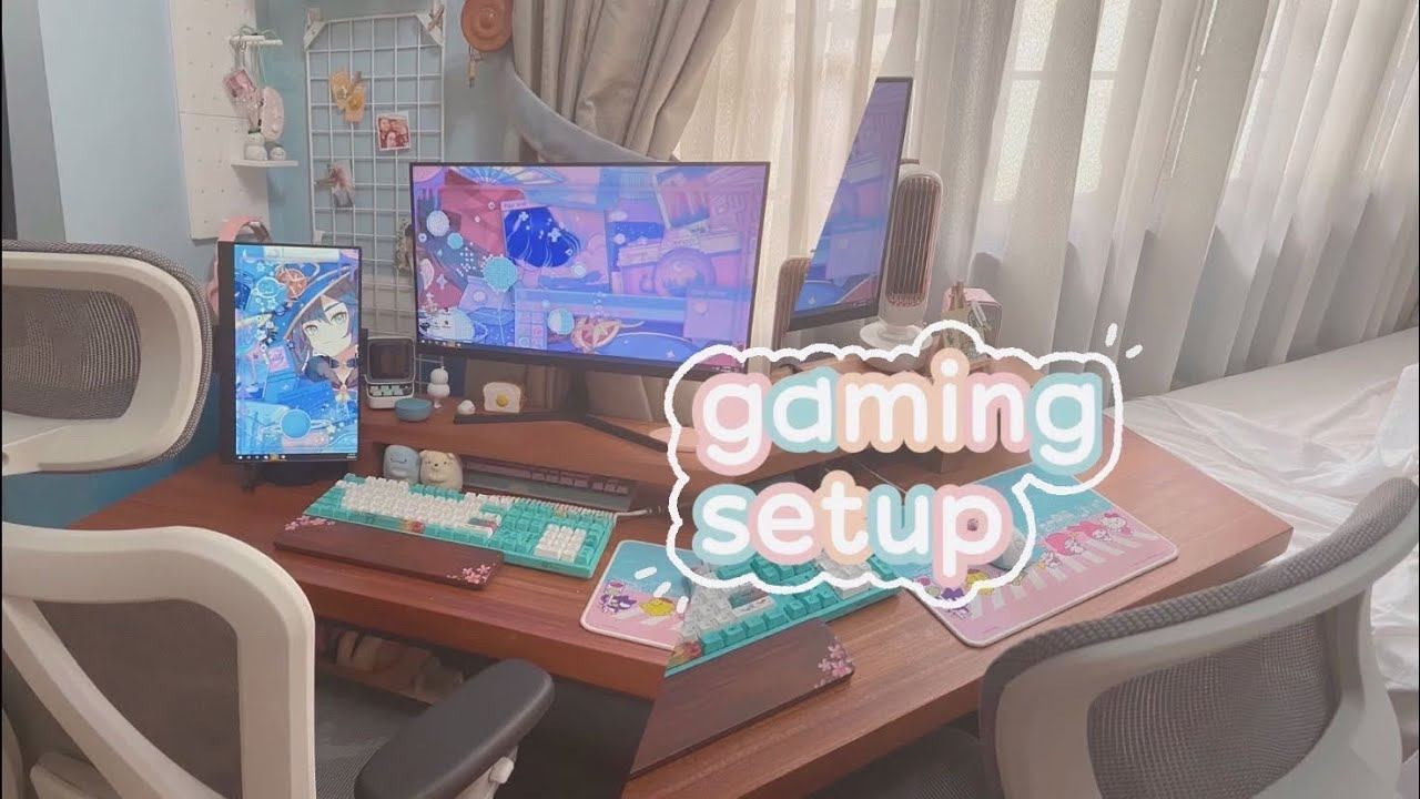 🍃 kinda kawaii gaming setup tour || it cute so i dont destroy things when i tilt, updated 2021 [ad]
