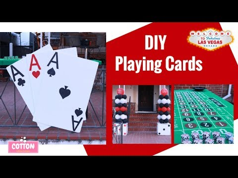 Casino Party Decorations | DIY Dollar Tree | Large Playing Cards