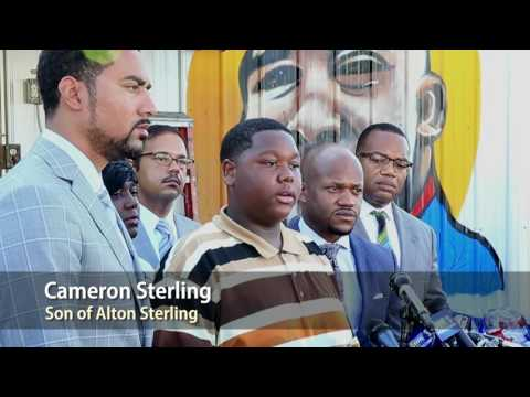 Son of Alton Sterling calls for peaceful protests and unity