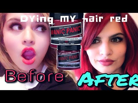 Dying my hair red|manic panic rock n roll red & pillarbox red hair dye review
