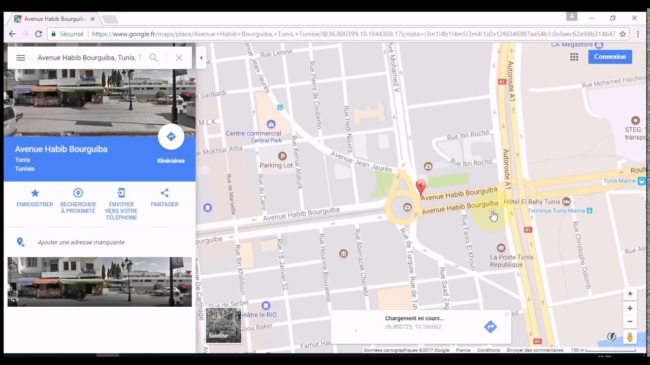 google maps coordonn es gps latitude et longitude youtube. Black Bedroom Furniture Sets. Home Design Ideas