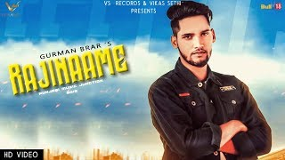 Rajinaame - Full Video 2019 | Gurman Brar | Music Empire | New Punjabi Song 2019 | VS Records