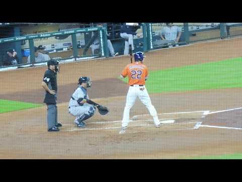 Josh Reddick at bat....Astros vs. Yankees...6/30/17
