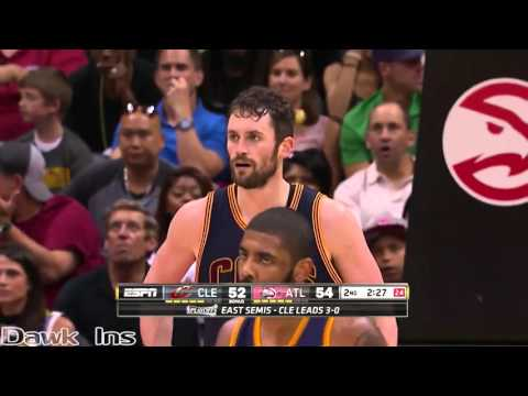 Kevin Love 2016 ECSF Game 4 @ Hawks (Full Highlights) 27 Pts, 13 Rebs, 4 Ast, 8 Threes!