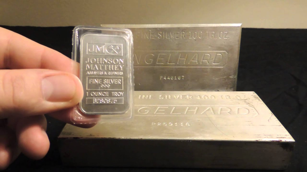 100 Oz Engelhard Silver Bars Youtube