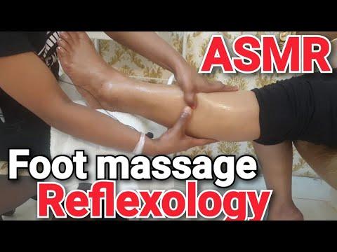 Female foot massage reflexology,  ASMR, Relaxing #indianmassage