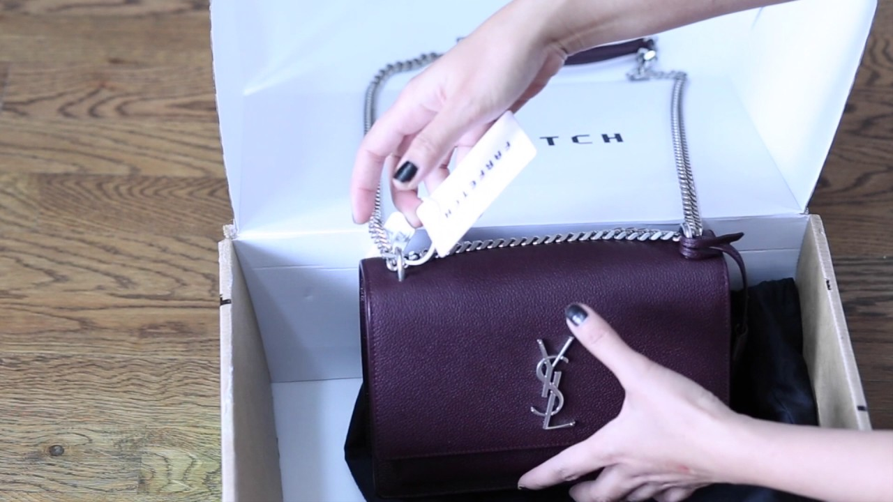 7e7b65b6 Unboxing Saint Laurent Sunset Bag 2016