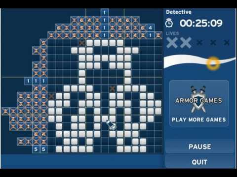 Mindgames Picross solutions for Advanced Pack One - Boat, Detective
