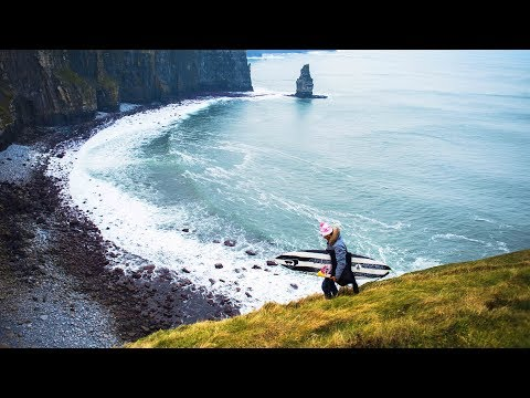 Surfing the monstrous Waves of Ireland
