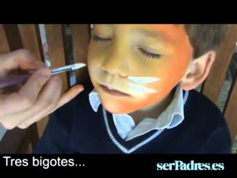 Cómo Hacer Un Maquillaje De León O Tigre Para Niños Youtube