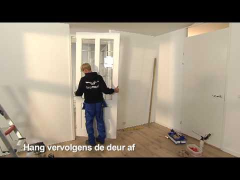 Beroemd Vervangen voordeur kozijn en deur - YouTube CN97