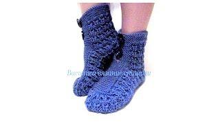 Носки сапожки спицами для взрослых Василиса