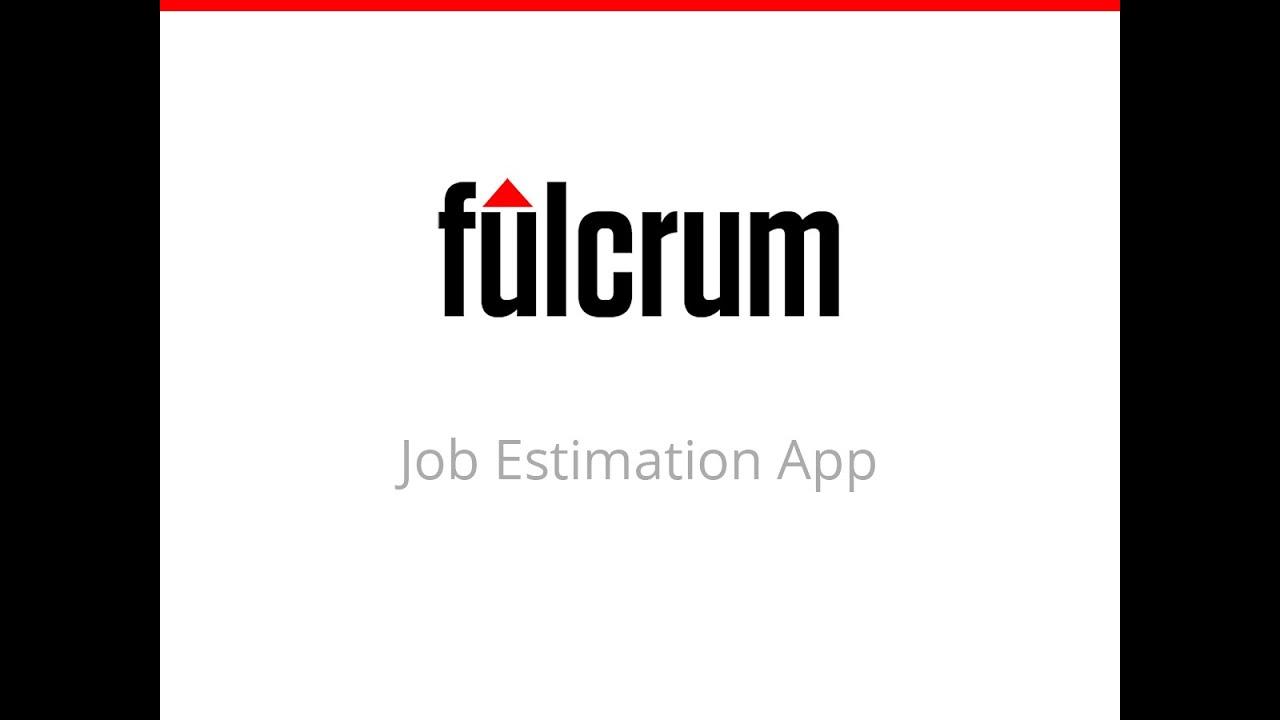 Job Estimation App | Fulcrum