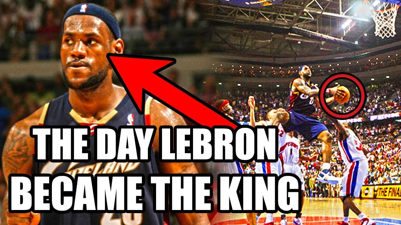 buy online a7cfa 72344 The Day LeBron James Became The King of The NBA