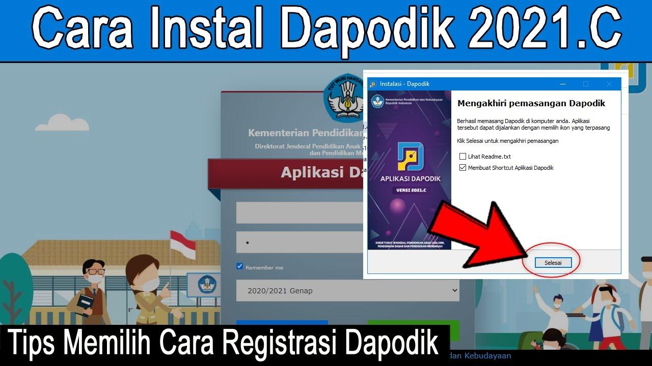 Cara Instal Aplikasi Dapodik 2021 C Youtube