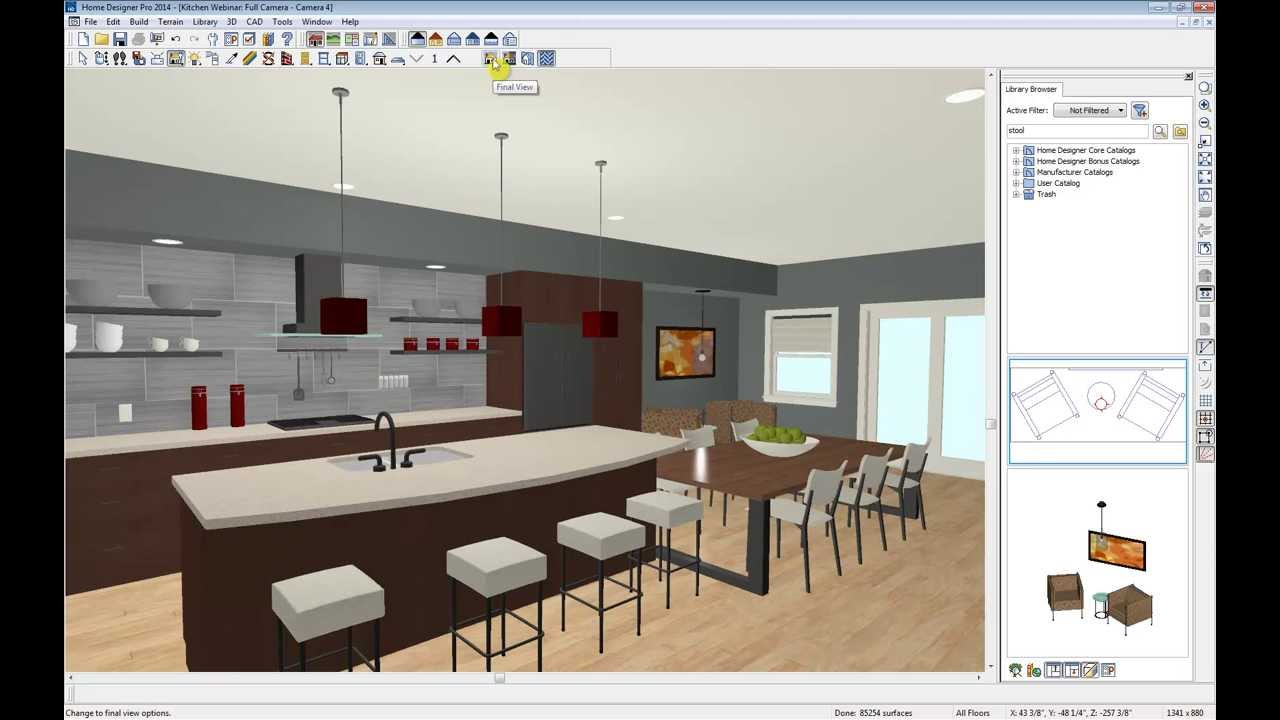 Home designer software kitchen webinar youtube - Home decorating design software free ...