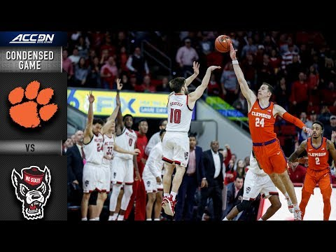 Clemson vs. NC State - Condensed Game | ACC Basketball 2018-19