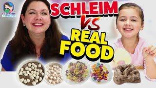 REAL FOOD vs. SCHLEIM FOOD - Täuschend echt! Geschichten und Spielzeug
