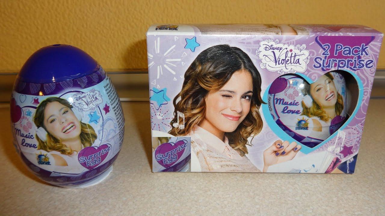 Sticker unboxing - 4 Surprise Eggs Disney Violetta Toys Unboxing Huevos